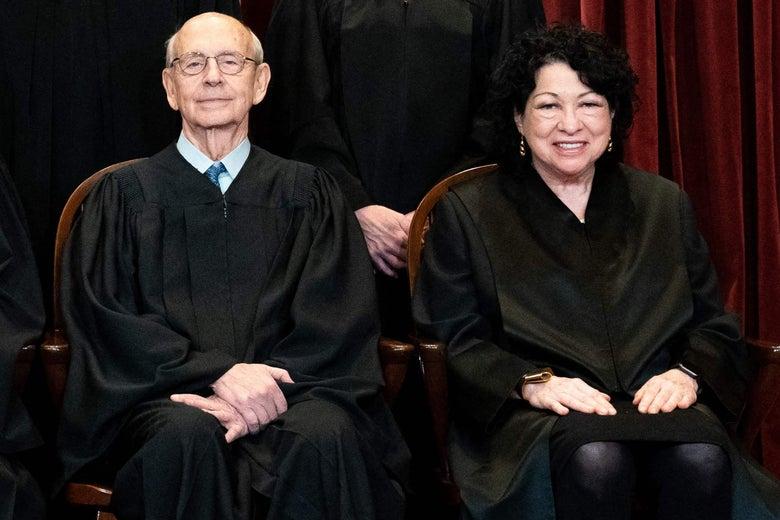 Stephen Breyer and Sonia Sotomayor