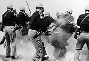 Alabama police attack Selma-to-Montgomery marchers on March 7, 1965.