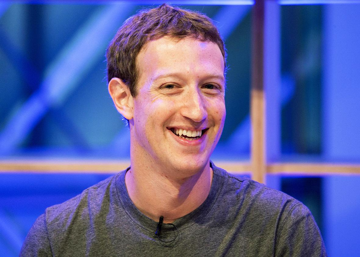 "Facebook founder and chief Mark Zuckerberg speaks at the so-called ""Facebook Innovation Hub"" in Berlin on Feb. 25."