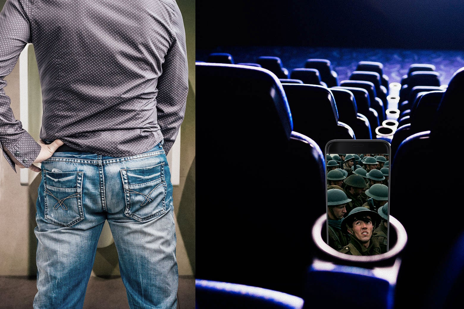 Men peeing in clothes movie clips