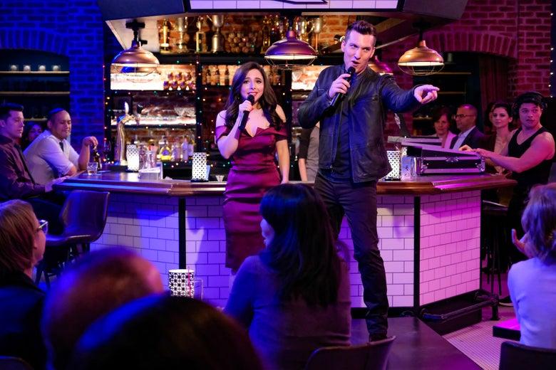 Esther Povitsky and Scott Michael Foster in Crazy Ex-Girlfriend
