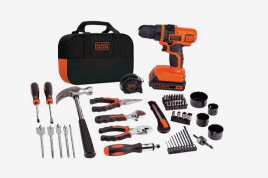 Black & Decker Lithium Drill and Project Kit.