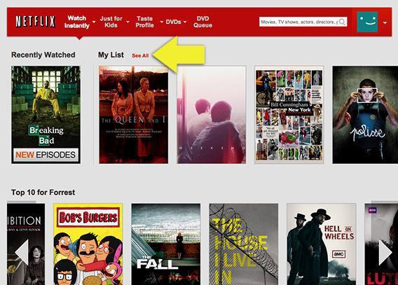 Netflix Instant Queue gone, now My List  Get your Instant