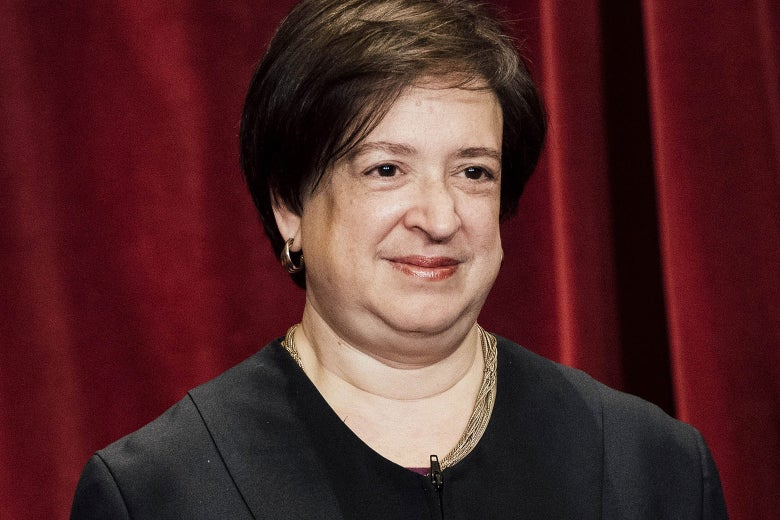 Supreme Court Associate Justice Elena Kagan smiles at the camera for an official photo at the Supreme Court on June, 1, 2017, in Washington.