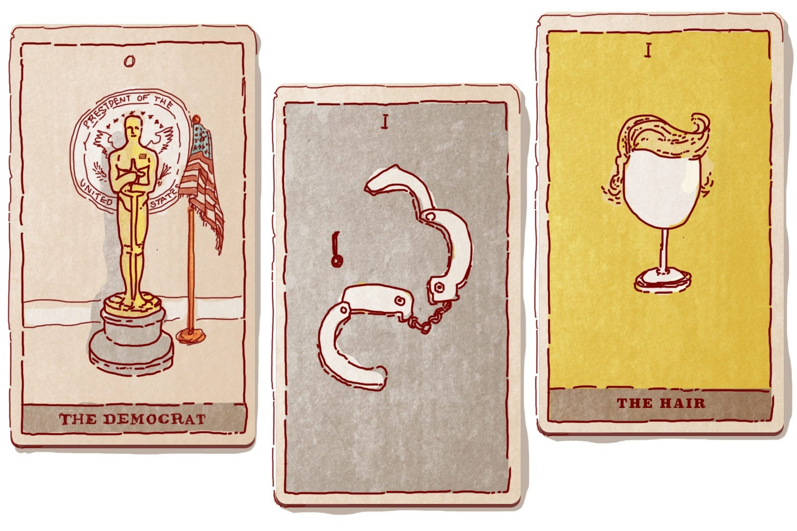 Illustration of Trump tarot cards by Natalie Matthews-Ramo.