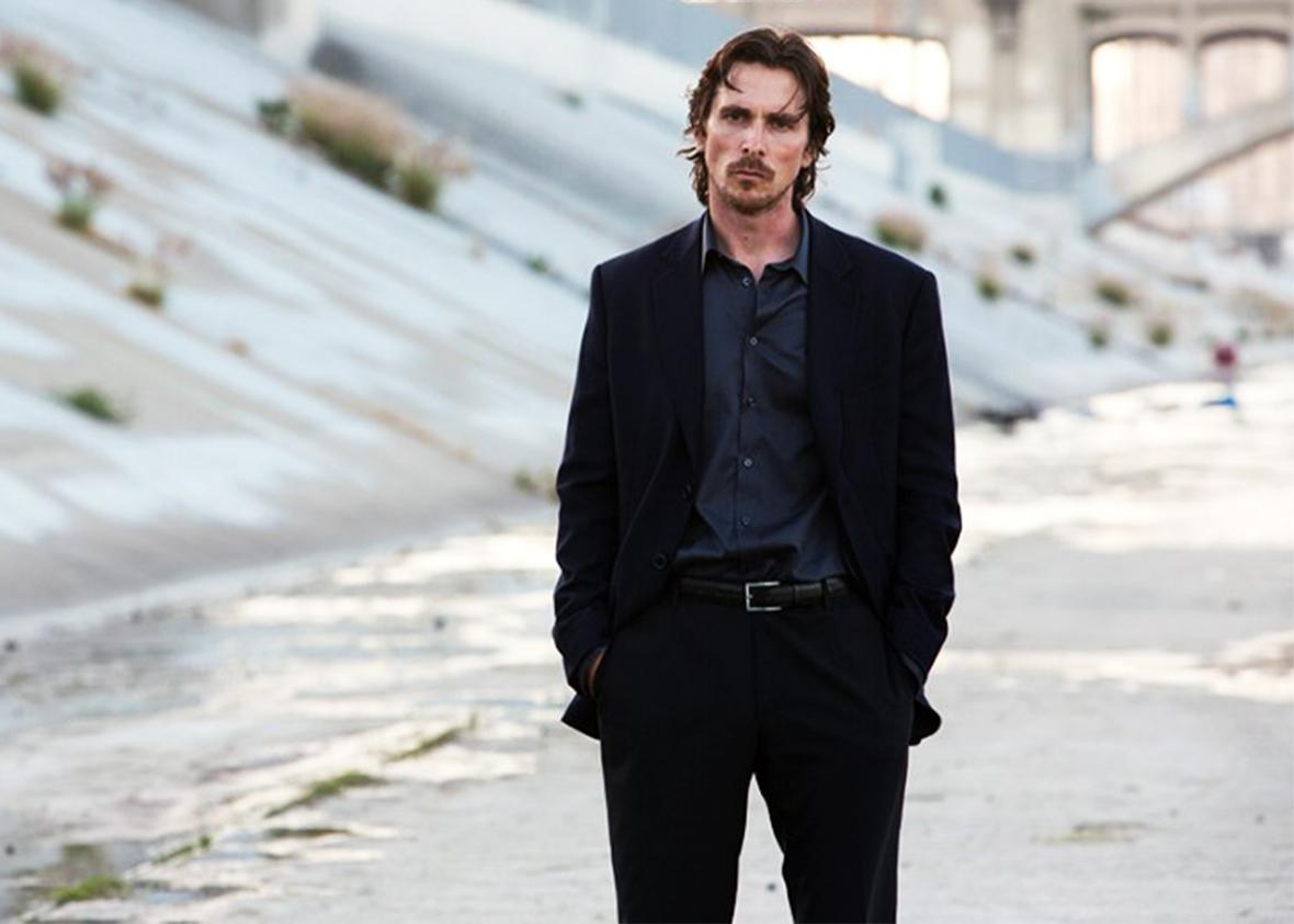 Still of Christian Bale in Knight of Cups.