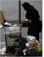 A homeless person. Click image to expand