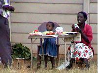 A family of roadside vendors