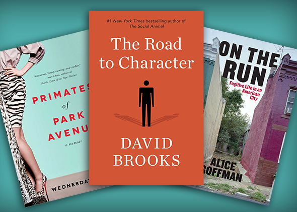 Cover art for Primates of Park Avenue, The Road to Character, and On the Run