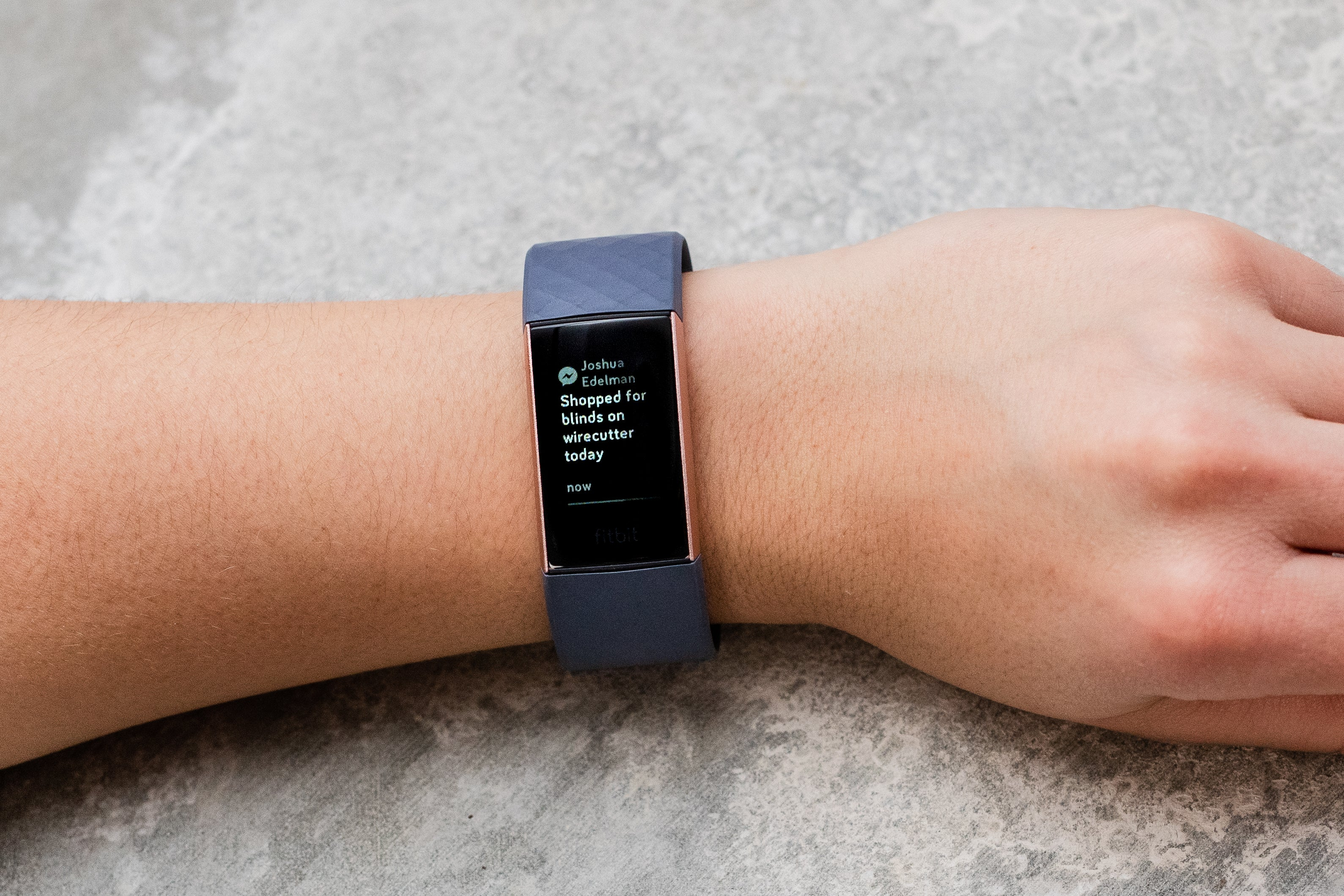 Fitbit Charge 3 notifications screen