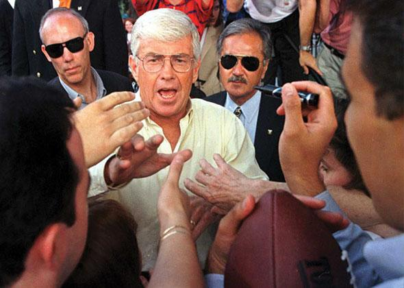 Republican vice presidential candidate Jack Kemp in 02 Sep 1996