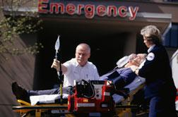 Man going to emergency room. Click image to expand.