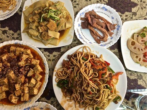 A delicious feast at a Chinese Muslim restaurant in Abbasiya, Cairo.