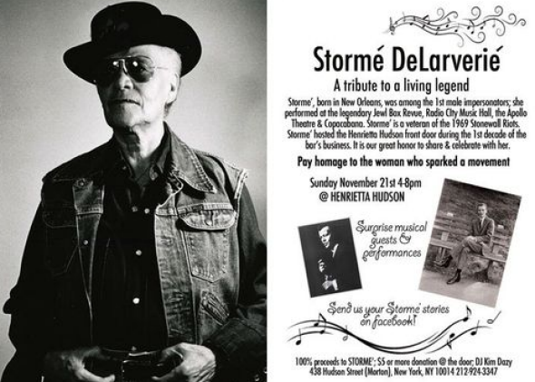 Flyer from a fundraiser for Stormé DeLarverie