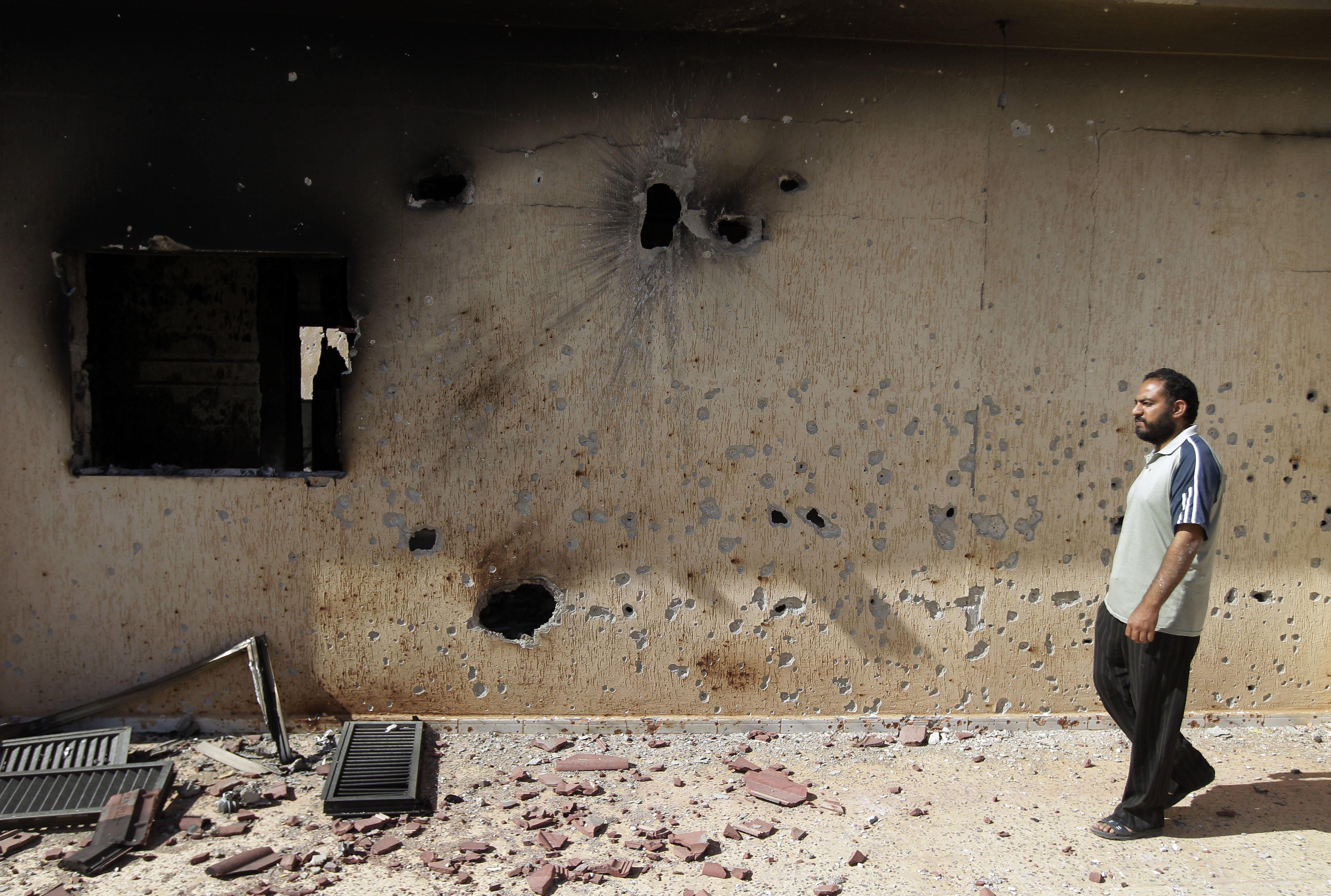 Damaged house in Sirte, Libya