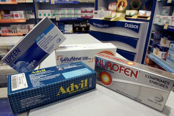 Commonly used painkiller medicines based on Ibuprofen, an anti-inflammatory drug.