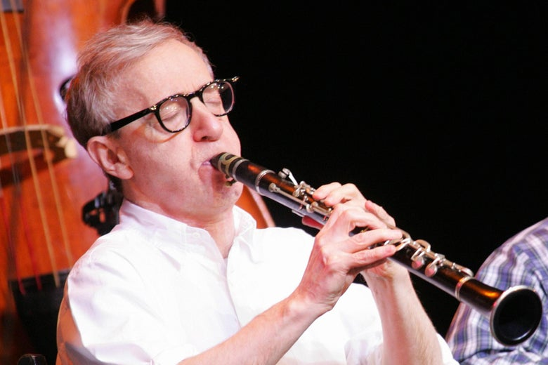 Woody Allen plays the clarinet.