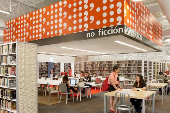 The McAllen Public Library in Texas