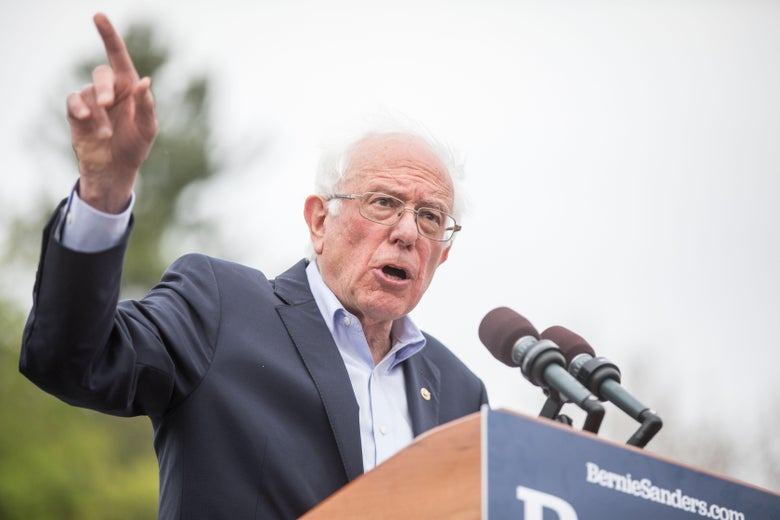MONTPELIER, VT - MAY 25:  Democratic presidential candidate Sen. Bernie Sanders speaks during a rally in the capital of his home state of Vermont on May 25, 2019 in Montpelier, Vermont.  This was the first Vermont rally of Sanders' 2020 campaign. (Photo by Scott Eisen/Getty Images)