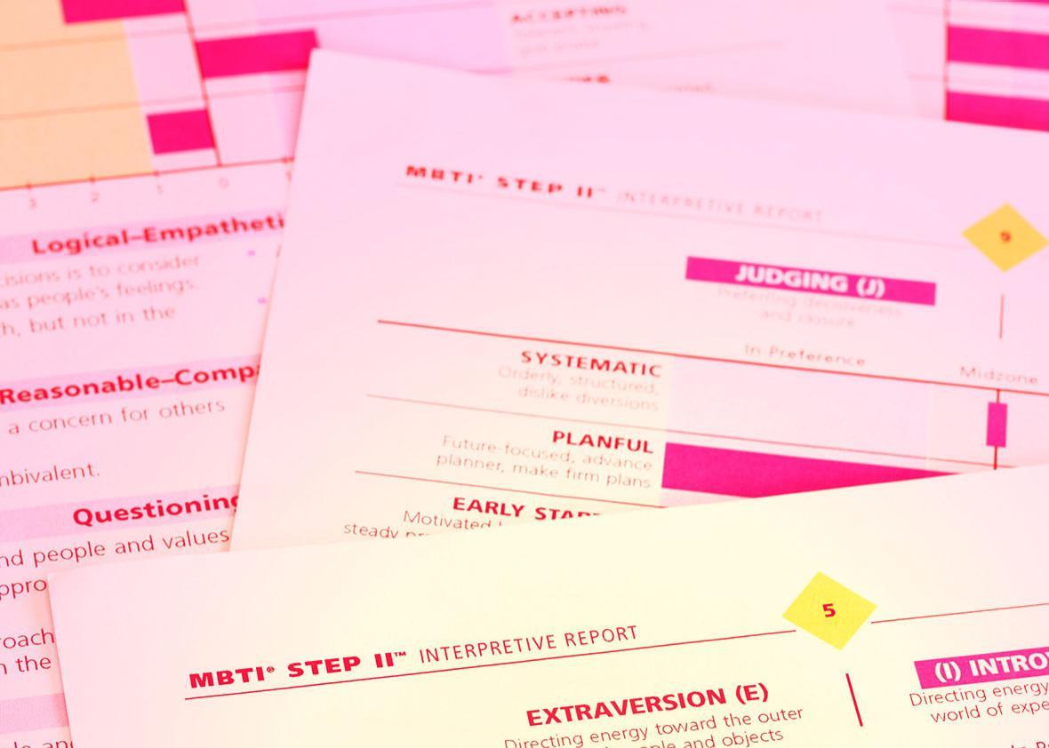 MBTI interpretive report.