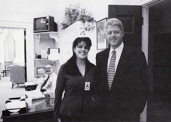 Monica Lewinsky and President Clinton