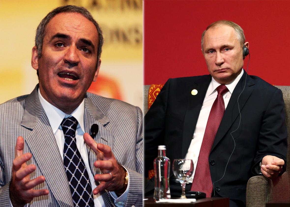 Garry Kasparov and Vladimir Putin.