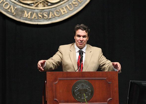 Greg Mortenson in Boston, Mass., in September 2008.