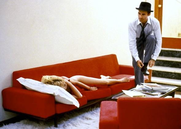Brigitte Bardot as Camille, Michel Piccoli as Paul Javal in Jean Luc Godard's Contempt