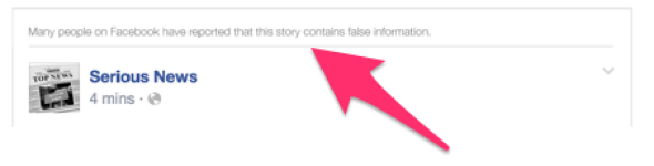 """Many people on Facebook have reported that this story contains false information."""