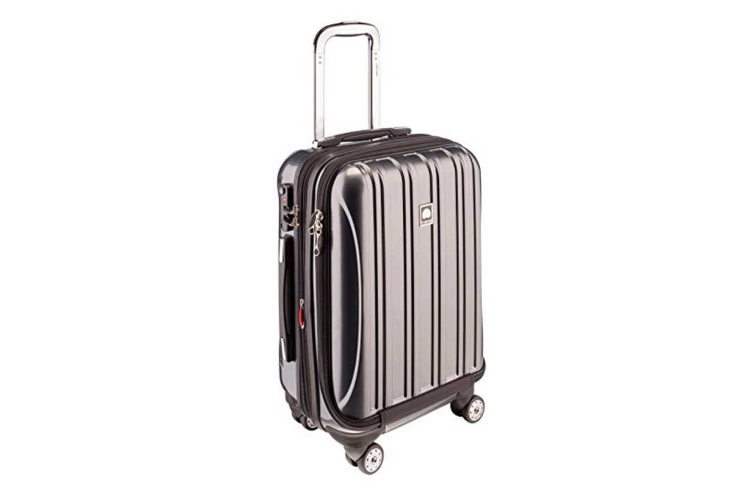 Delsey Luggage Helium Aero International Carry On Expandable Spinner Trolley.