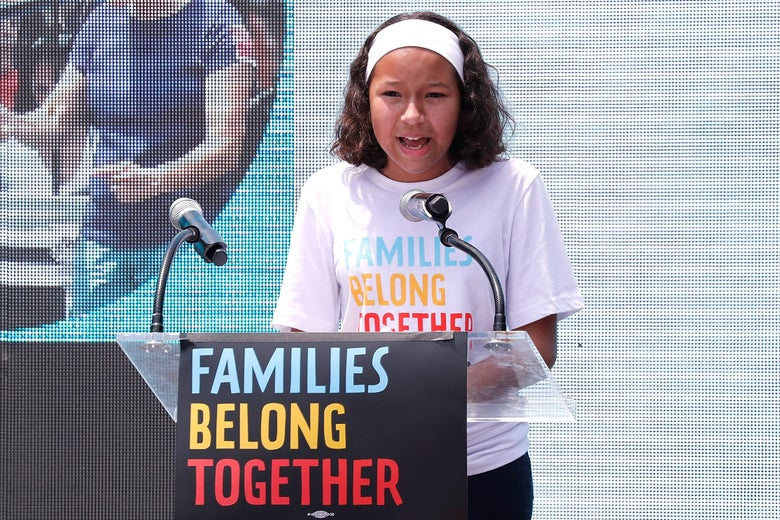 Deportation Constant Fear For >> Families Belong Together Watch 12 Year Old Leah Deliver Emotional