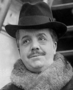 Russian ballet impresario and founder of the Ballets Russes Sergei Diaghilev.