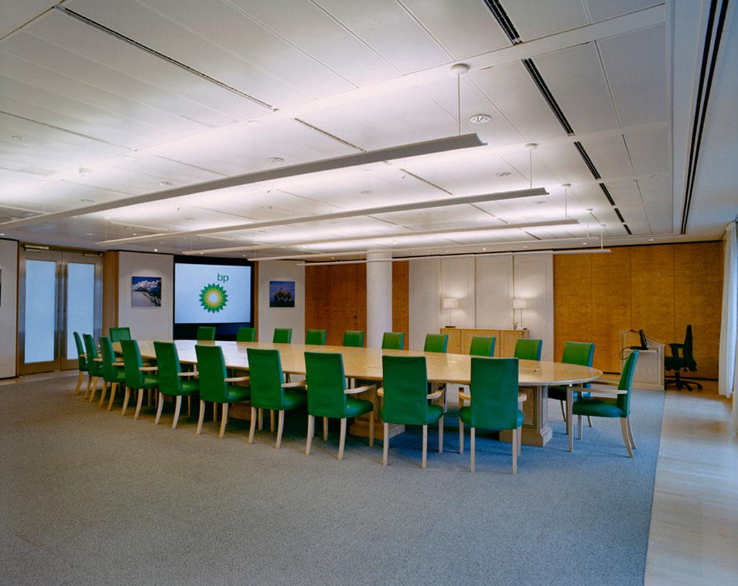 The meeting table of the Board of Directors of BP London, United Kingdom, October 6, 2009