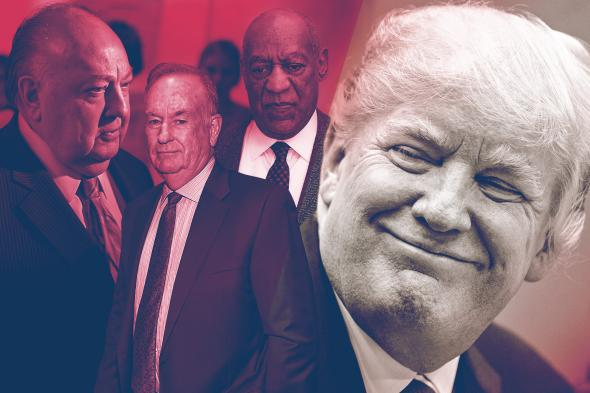 Roger Ailes, Bill O'Reilly, Bill Cosby, Donald Trump.