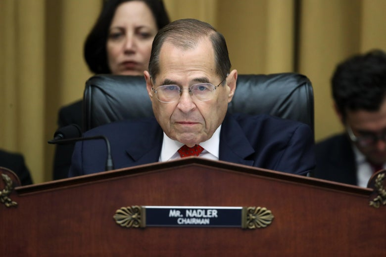 Chairman of the House Judiciary Committee Rep. Jerry Nadler (D-NY) questions former Special Counsel Robert Mueller in the Rayburn House Office Building July 24, 2019 in Washington, D.C.
