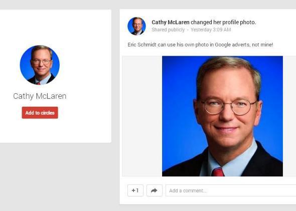 Eric Schmidt Google Plus