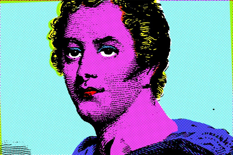 Lord Byron in a cartoon style.