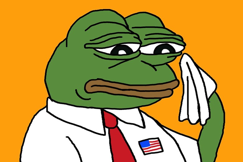 Pepe the Frog in a tie.