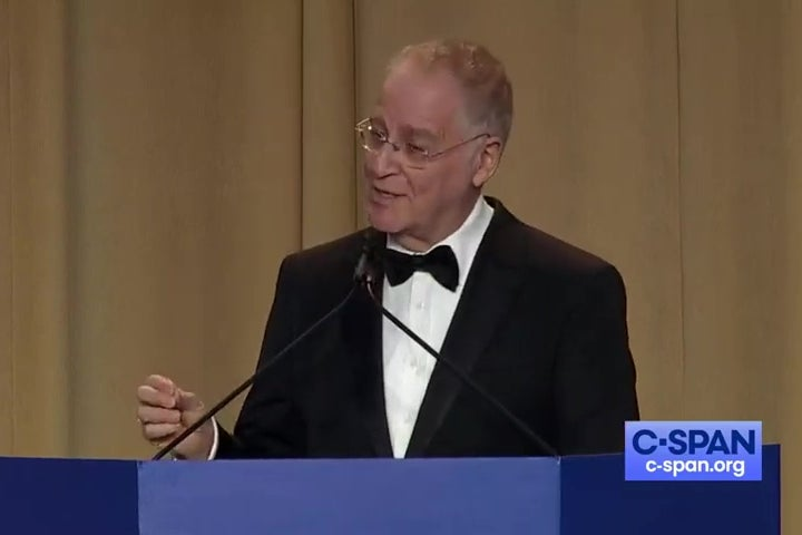 Ron Chernow at a podium.