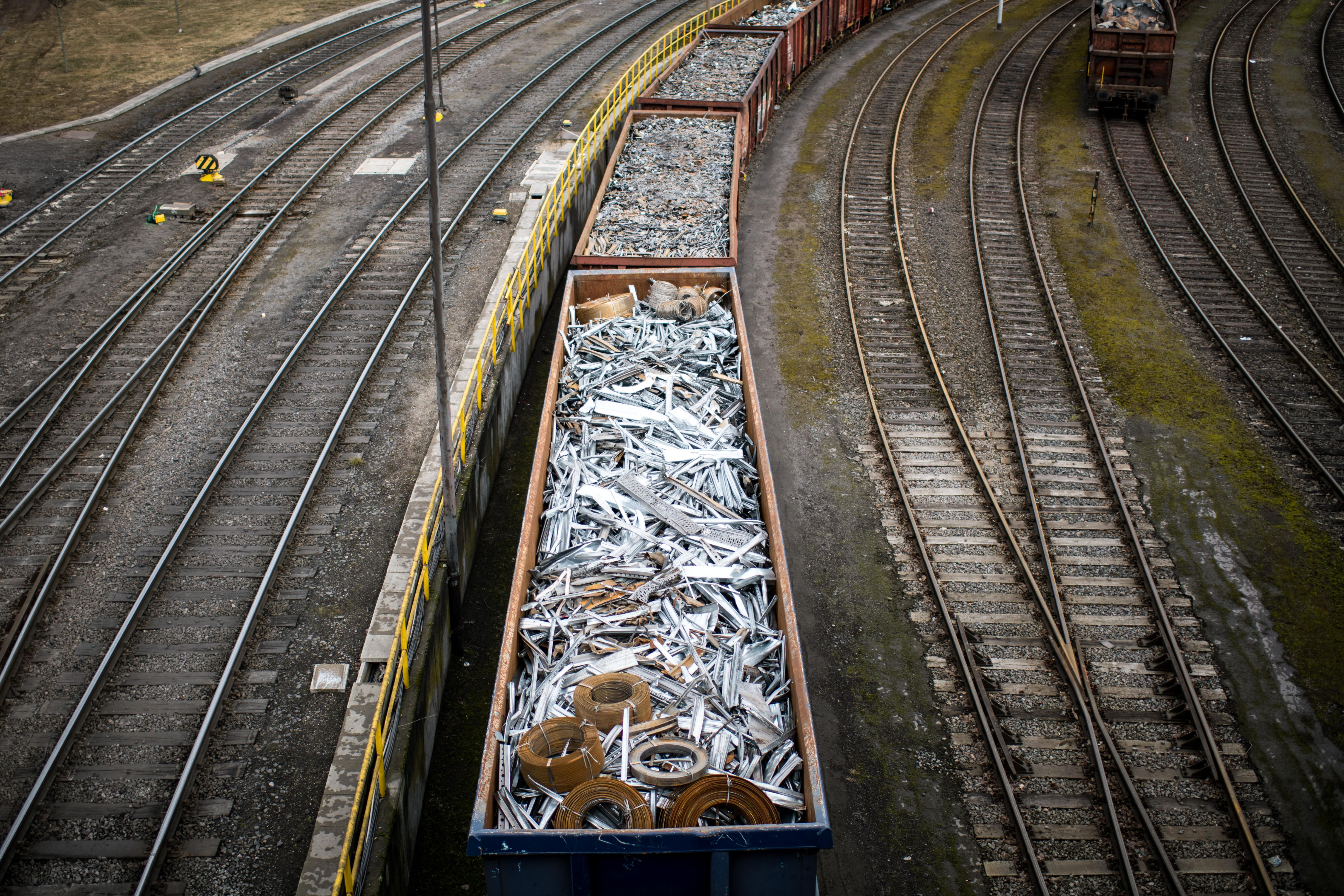 DUISBURG, GERMANY - MARCH 05: Trains with scrap metal stay in front of the Huettenwerk Krupp Mannesmann GmbH steel mill on March 5, 2018 in Duisburg, Germany. Tensions between U.S. President Donald Trump and the European Union are rising after Trump announced he would respond to any E.U. tariffs on American goods with U.S. tariffs on European cars. Trump originally sought tariffs on imports of steel and aluminum, to which EU officials said they would respond with tariffs on U.S. jeans, motorcycles and bourbon. The European Union and Canada are the two biggest exporters of steel to the United States. (Photo by Lukas Schulze/Getty Images)