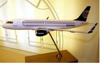 A model of the Bombardier C-Series aircraft. Click image to expand.