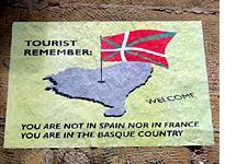 A wall poster in San Sebastián