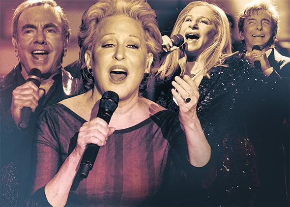 Manilow, Midler, Streisand, Diamond.