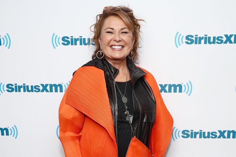 Roseanne Barr attends a SiriusXM event in March.