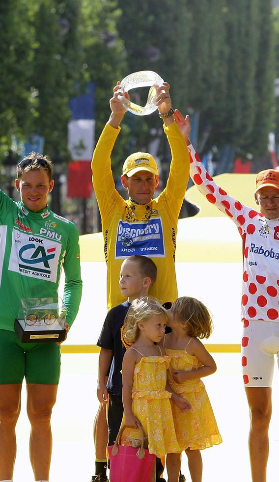 Lance Armstrong at the 2005 Tour de France