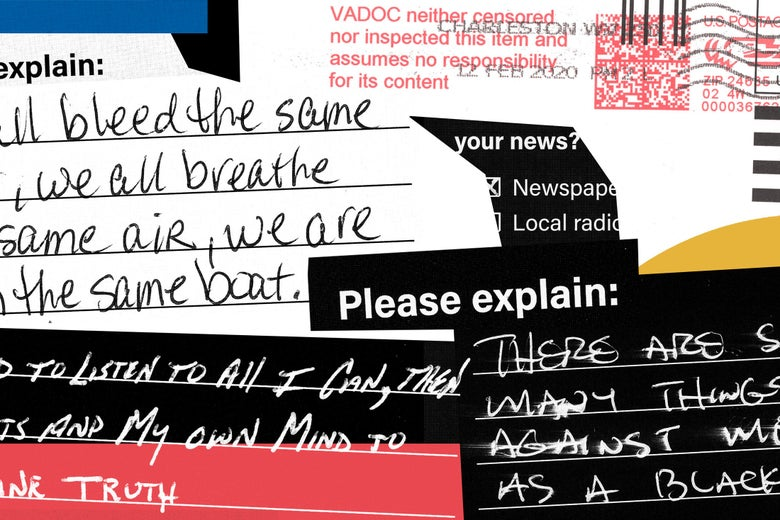 An illustration combining snapshots of handwritten responses from the survey.