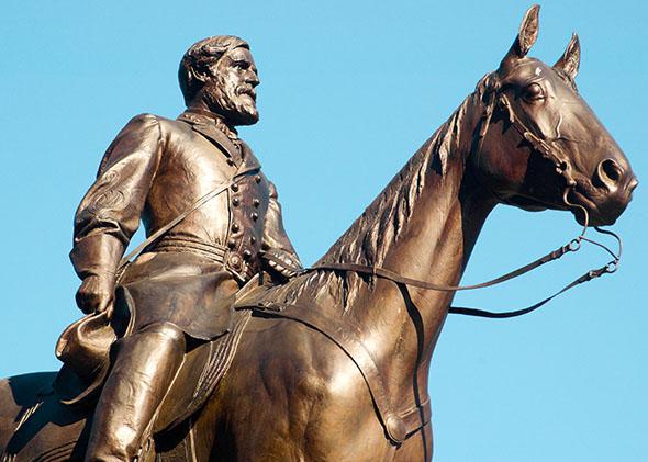 General Robert E. Lee on Traveller, in Richmond, VA.