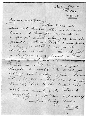 Written by Minnie and set to her brother David in Indiana, May 14, 1915.