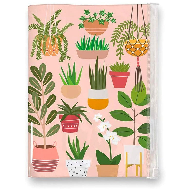 A planner covered in plants.