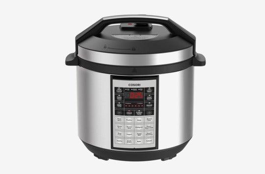 Cosori 6 Quart 8-in-1 Multi-Functional Programmable Pressure Cooker.